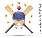 vector symbol of cricket... | Shutterstock .eps vector #562197769