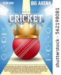 poster template of cricket... | Shutterstock .eps vector #562198081