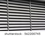 opened metallic window shutter...   Shutterstock . vector #562200745