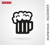 mug of beer icon isolated on... | Shutterstock .eps vector #562203055