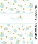 notepad cover design for girls. ... | Shutterstock .eps vector #562203781