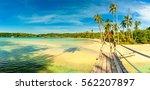 panoramic photo tropical beach  ... | Shutterstock . vector #562207897
