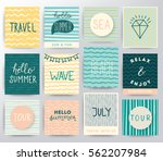 summer and travel illustration... | Shutterstock .eps vector #562207984