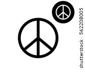 peace sign    white vector icon | Shutterstock .eps vector #562208005