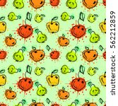seamless vector pattern. hand... | Shutterstock .eps vector #562212859