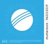 cricket ball icon | Shutterstock .eps vector #562213219