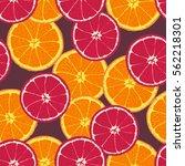 sliced orange pattern | Shutterstock .eps vector #562218301
