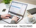 developer development web code... | Shutterstock . vector #562219885