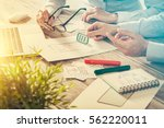 ux designer designing designers ... | Shutterstock . vector #562220011