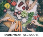 cooking food kitchen cutting... | Shutterstock . vector #562220041