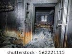 Burnt Black Room After Fire