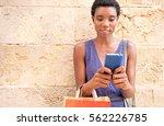 portrait of beautiful african...   Shutterstock . vector #562226785