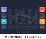 financial infographics element... | Shutterstock .eps vector #562227499