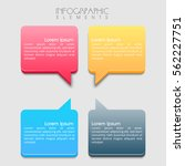 colorful infographic layout for ... | Shutterstock .eps vector #562227751