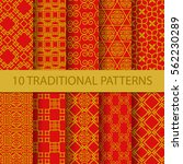 10 different traditional... | Shutterstock .eps vector #562230289