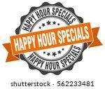happy hour specials. stamp.... | Shutterstock .eps vector #562233481