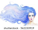 watercolor hand drawn fashion... | Shutterstock . vector #562233919