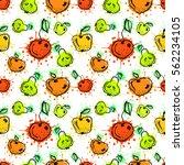 seamless vector pattern. hand... | Shutterstock .eps vector #562234105