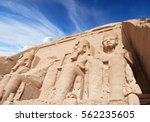 temple in abu simbel | Shutterstock . vector #562235605