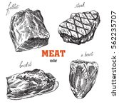 meat products | Shutterstock .eps vector #562235707