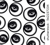 hand draw seamless pattern of... | Shutterstock .eps vector #562237234