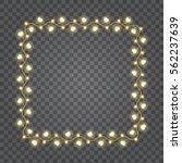 shiny hearts light bulbs... | Shutterstock .eps vector #562237639