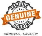genuine. stamp. sticker. seal.... | Shutterstock .eps vector #562237849
