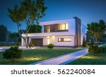 3d rendering of modern cozy... | Shutterstock . vector #562240084