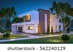 3d rendering of modern cozy... | Shutterstock . vector #562240129