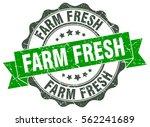 farm fresh. stamp. sticker....   Shutterstock .eps vector #562241689
