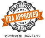 fda approved. stamp. sticker.... | Shutterstock .eps vector #562241797