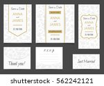 beautiful wedding set of... | Shutterstock .eps vector #562242121