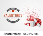 happy valentines day greeting... | Shutterstock .eps vector #562242781