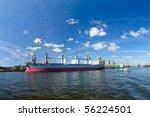 cargo ships at berth under... | Shutterstock . vector #56224501