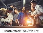 teacher making workshop for... | Shutterstock . vector #562245679