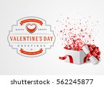 happy valentines day greeting... | Shutterstock .eps vector #562245877