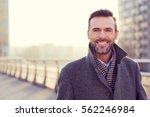 portrait of handsome man... | Shutterstock . vector #562246984