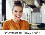 portrait of beautiful young... | Shutterstock . vector #562247044