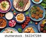 middle eastern or arabic dishes ... | Shutterstock . vector #562247284