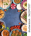 middle eastern or arabic dishes ... | Shutterstock . vector #562247557
