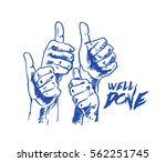 many people congratulate a... | Shutterstock .eps vector #562251745