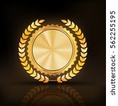 glossy gold badge .empty space...   Shutterstock .eps vector #562255195
