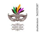 vector logo mask of lace. mardi ...   Shutterstock .eps vector #562259287