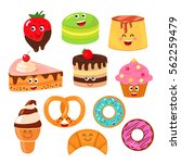 funny characters desserts ... | Shutterstock .eps vector #562259479