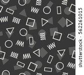 retro memphis geometric line... | Shutterstock .eps vector #562261015