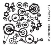 cogs  gears. retro machinery... | Shutterstock .eps vector #562261441
