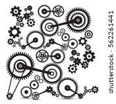 cogs  gears. retro machinery... | Shutterstock .eps vector #562261441