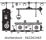 retro line of production... | Shutterstock .eps vector #562261465