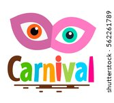 retro carnival icon with mask...   Shutterstock .eps vector #562261789
