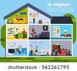 neighbor conflicts composition... | Shutterstock .eps vector #562261795